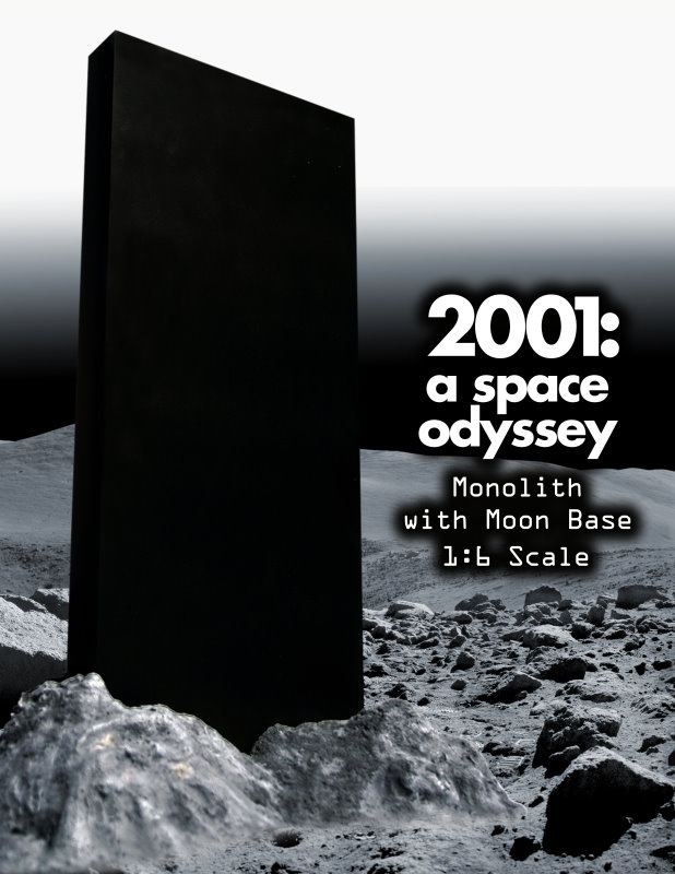 2001  a space odyssey the monolith  u0026 base 1 6 scale premium display base from executive replicas