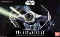 Darth Vader's TIE Fighter 1:72  model kit from Bandai