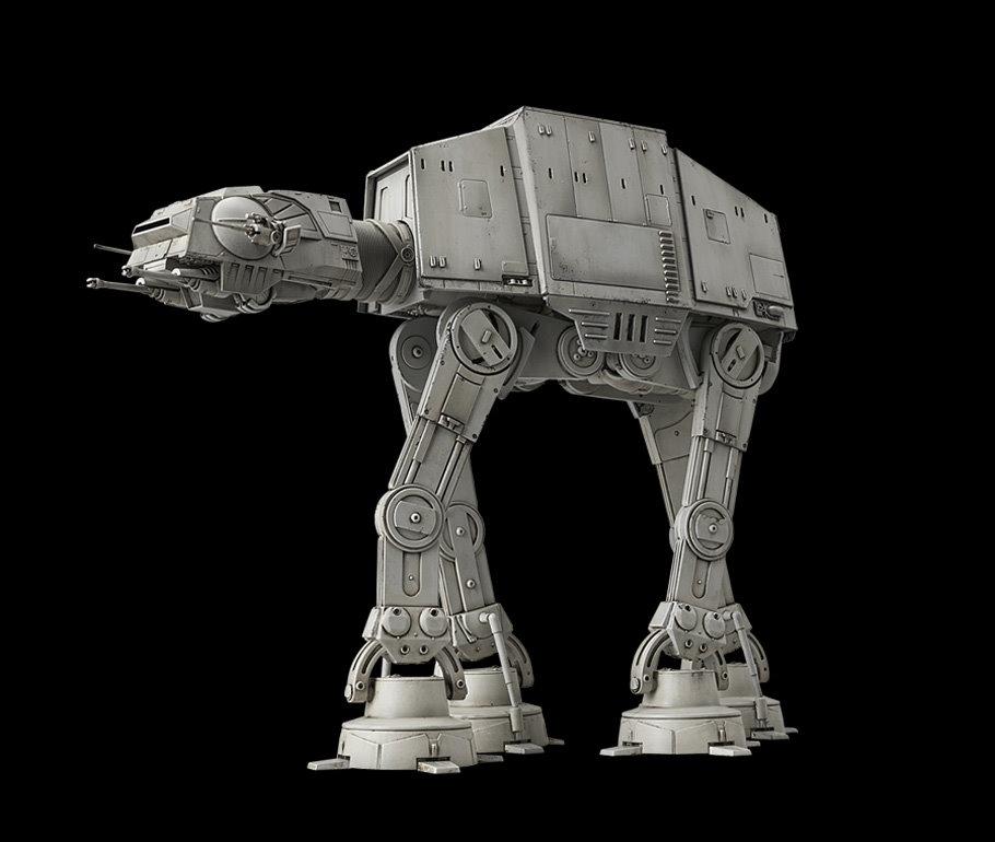 Star Wars At At 1 144 Scale Kit From Bandai