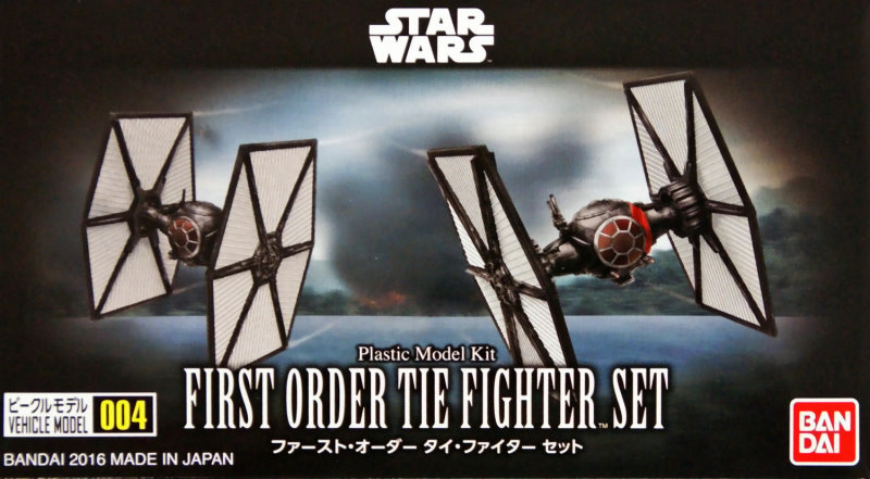 force awakens first order tie fighter set mini