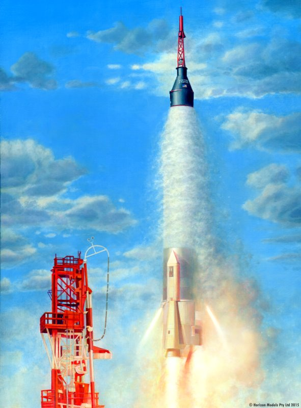 mercury atlas rocket 1 72 from horizon models