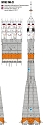 R-7 Soyuz Launch Vehicle TMA-21 1:144 scale from New Ware
