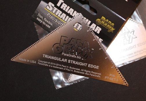 triangular straight edge tool from paragrafix