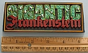 GIANT Gigantic Frankenstein nameplate from Thunderboy