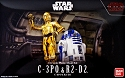 C-3PO and R2-D2 - The Last  Jedi - 1:12 scale kit from Bandai