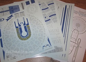 Starship Excelsior Aztec decals 1:1000 from Acreation