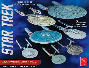 USS Enterprise Collection - 7 kits - 1:2500 scale from Round 2/AMT