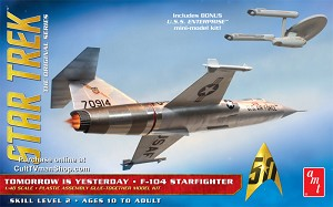 Tomorrow is Yesterday F-104 Starfighter 1:48 from Round 2/AMT