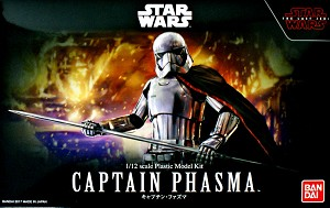 The Last Jedi Captain Phasma 1:12 figure kit from Bandai