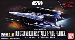 Blue Squadron X-Wing Fighter mini-kit set 011 from Bandai