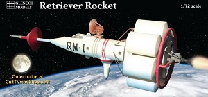 Retriever 1 Moon Rocket 1:72 scale from Glencoe
