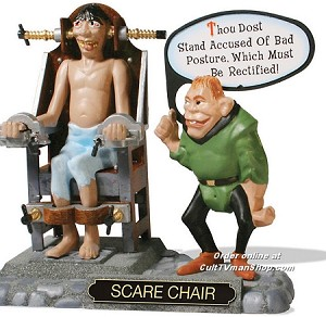 Weird-Oh's Medieval Torture: Scare Chair from Hawk