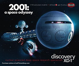 2001 Discovery 1:144 scale from Moebius Models