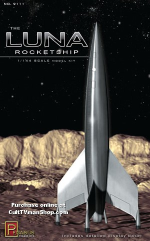 Luna Rocketship 1:144 scale from Pegasus Hobbies