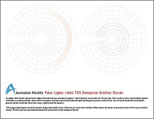 Grid decals 1:1000 scale starship from Acreation Models