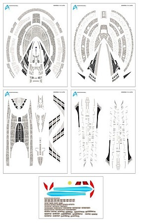 Starship-E Nemesis 1:1400 scale aztec decals from Acreation Models