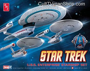 Enterprise 1:2500 Set: TOS, Refit, and B Cadet Series from AMT/Round 2