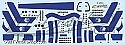 Space Fighter Mk II blue stripes decals from JTGraphics