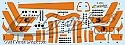 Space Fighter Mk II orange stripes decals from JTGraphics