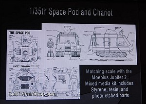 Lost In Space Pod & Chariot 1:35 scale from Moebius $59.95 - PREORDER RESERVATION
