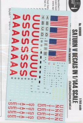 Saturn V decals  1:144 scale from New Ware