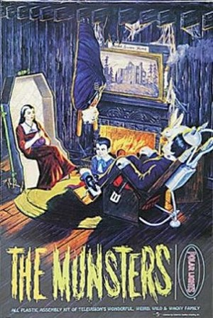 The Munsters Living Room -reissued kit from Polar Lights