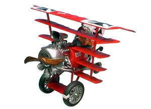 The Baron and his Funfdecker Fokker from Revell