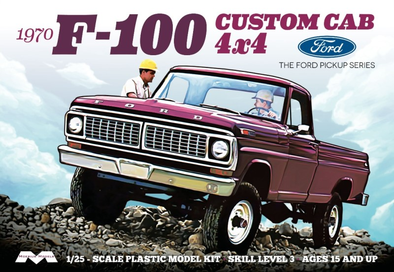 1970 Ford F-100 Custom Cab 4x4 Pickup  from Moebius Models