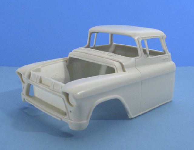 1955-57 Chevy Pickup Chopped Cab 1:25 resin car body from Jimmy Flintstone