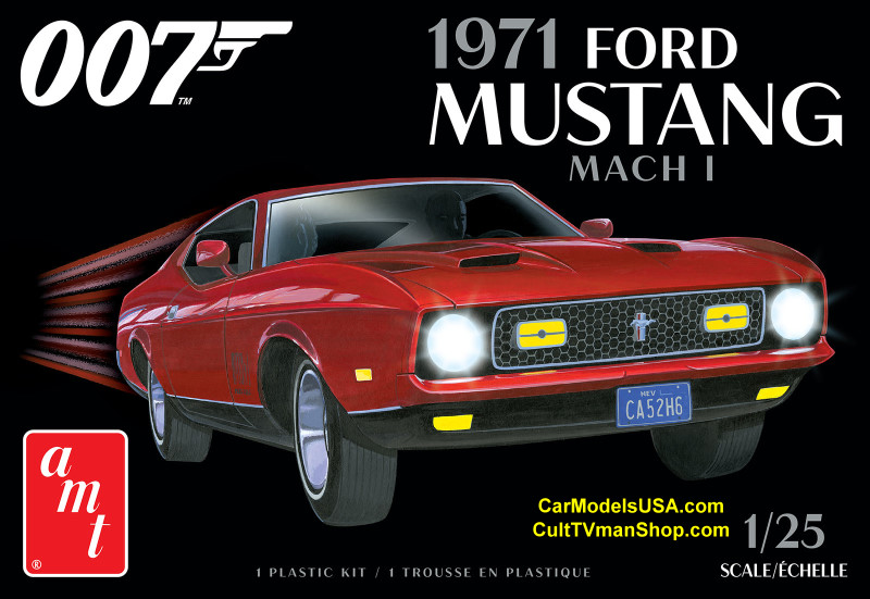 NEW: James Bond 1971 Ford Mustang 1:25 from AMT/Round 2