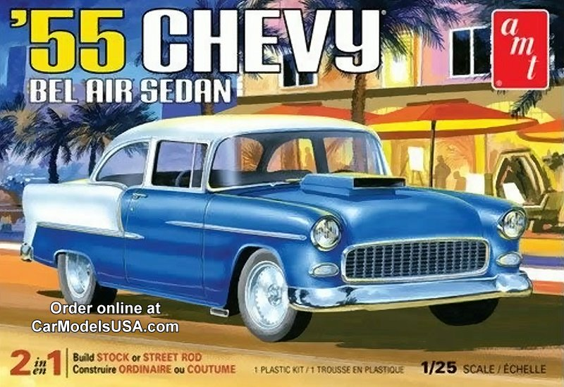 1955 Chevy Bel Air Sedan 1:25 from AMT/Round 2