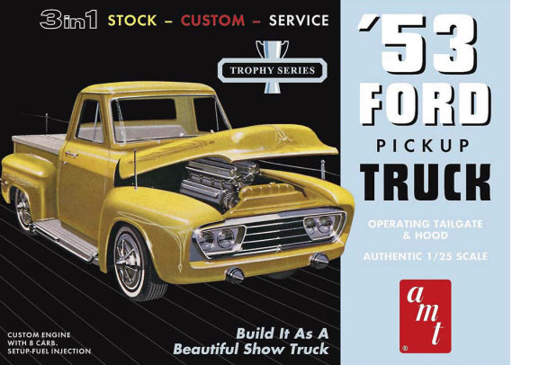 1953  Ford Pickup truck 1:25 from AMT/Round 2