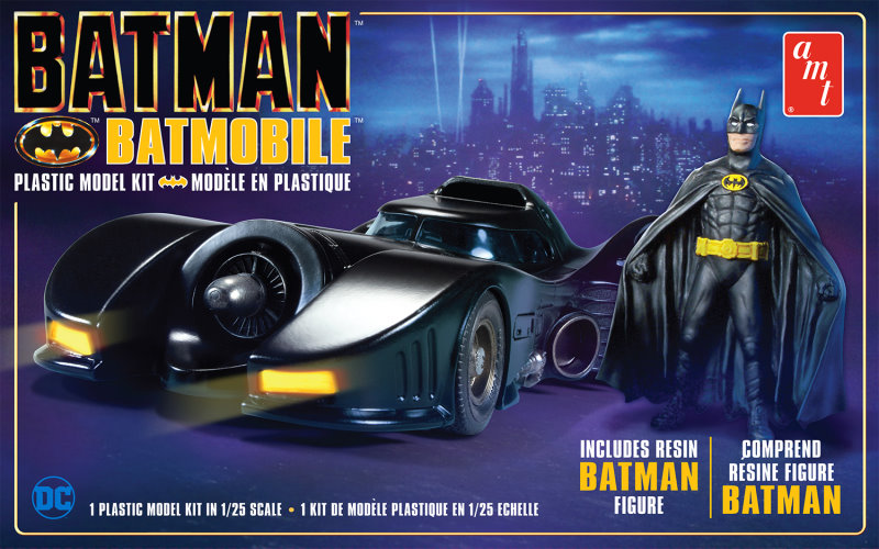 Batman 1989 Batmobile and Batman figure  1:25 reissue from AMT/Round 2