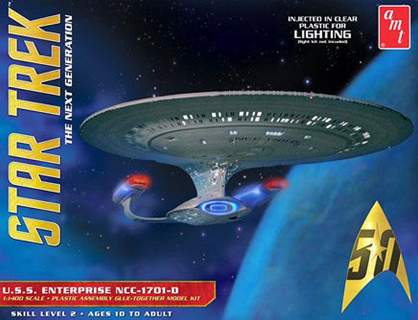 USS Enterprise-D CLEAR PLASTIC 1:1400 scale reissue from ...