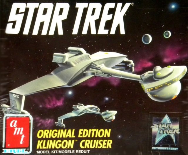 Classic Klingon D-7 Battle Cruiser from AMT - 90s reissue