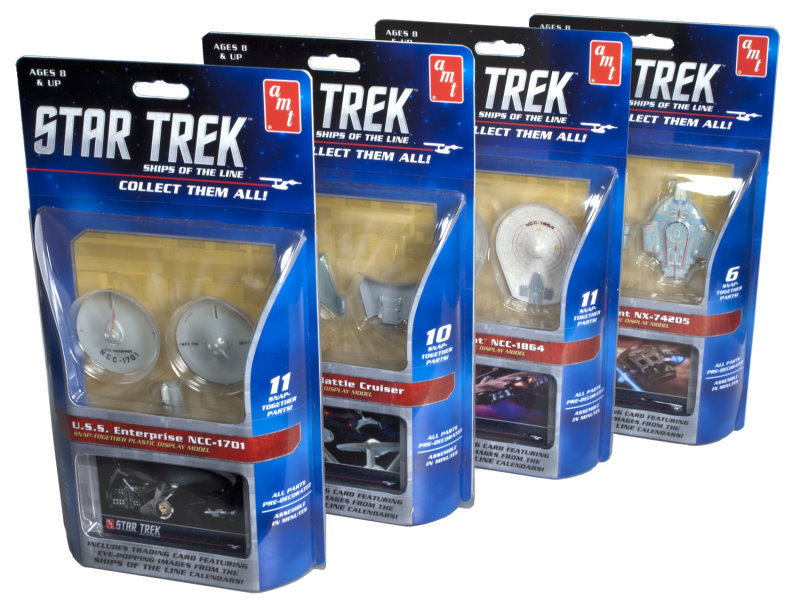 Star Trek Ships of the Line - 1:2500 - set of 4 kits from AMT