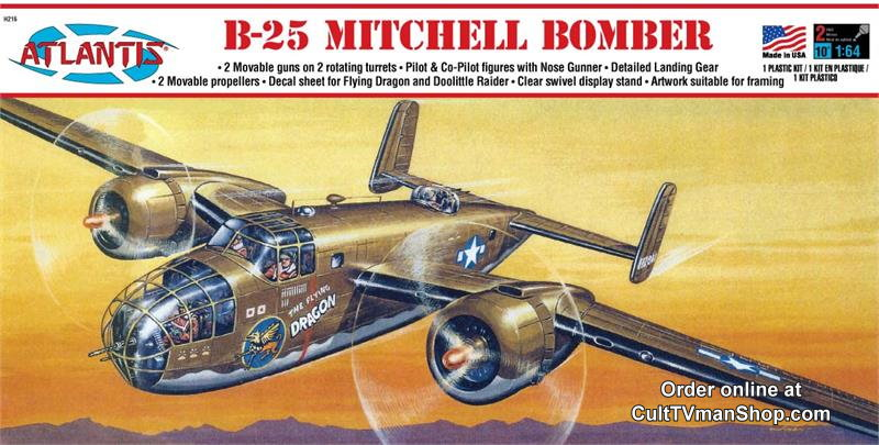 B-25 Mitchell Bomber Flying Dragon 1:64 scale - Revell reissue from Atlantis