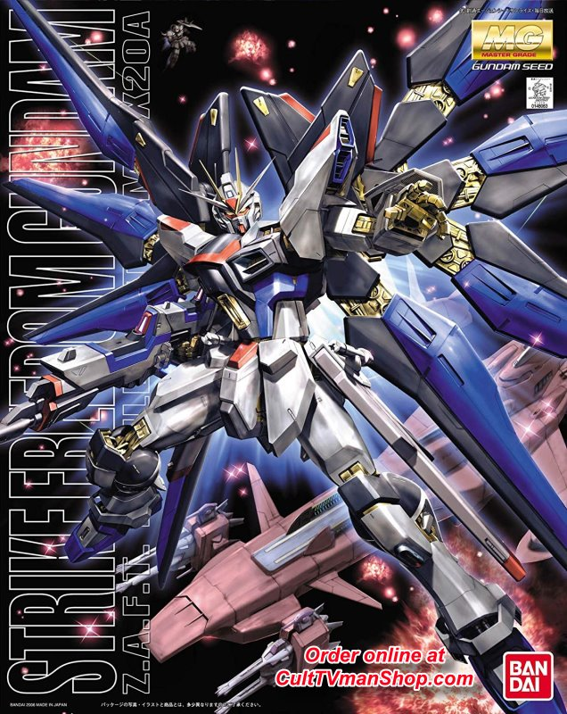 Strike Freedom Gundam Z.A.F.T Mobile Suit X20A - Gundam Seed - MG 1:100 scale from Bandai