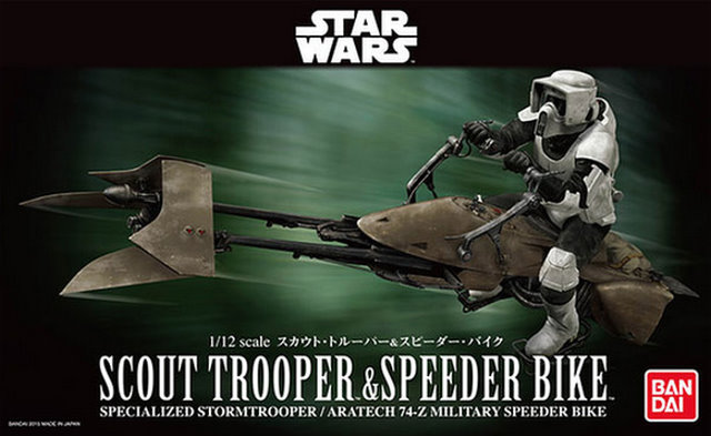 Scout Trooper and Speederbike 1:12 scale kit from Bandai