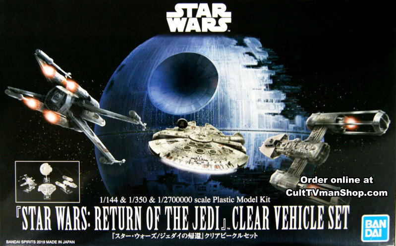 Return of the Jedi Clear Spacecraft set from Bandai