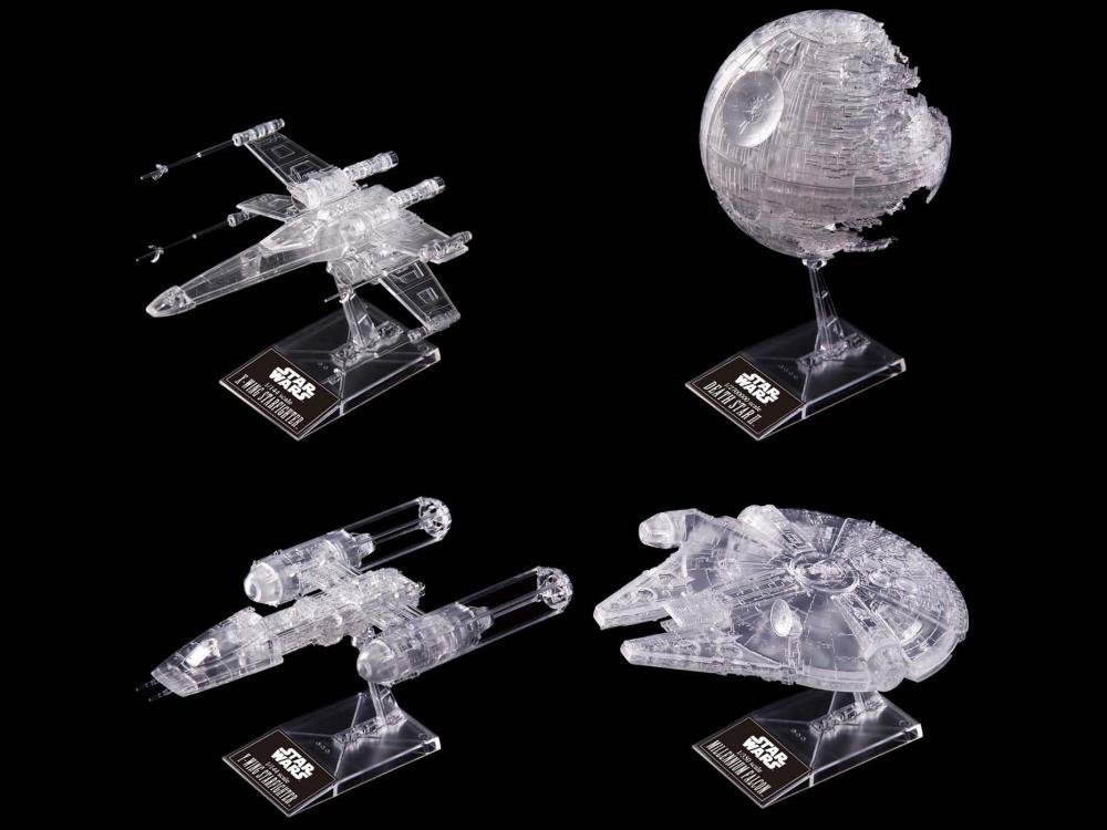 Star Wars Clear Spacecraft set from Bandai - PREORDER