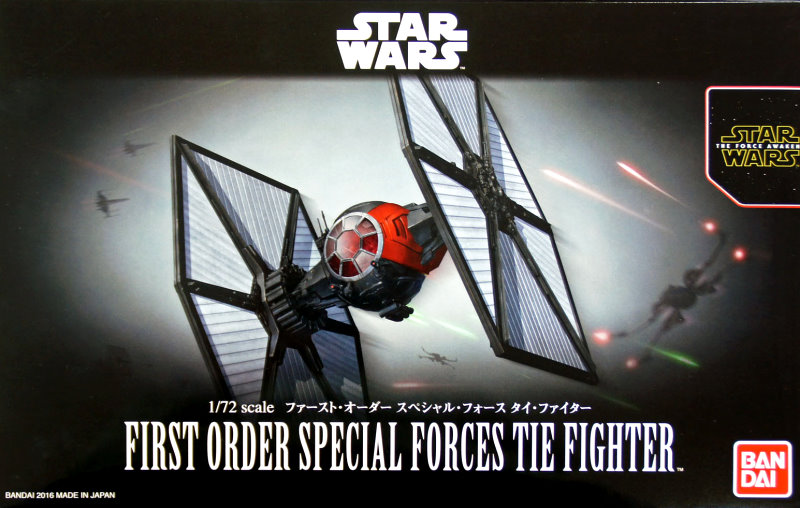 First Order Special Forces TIE Fighter 1:72 scale kit from Bandai