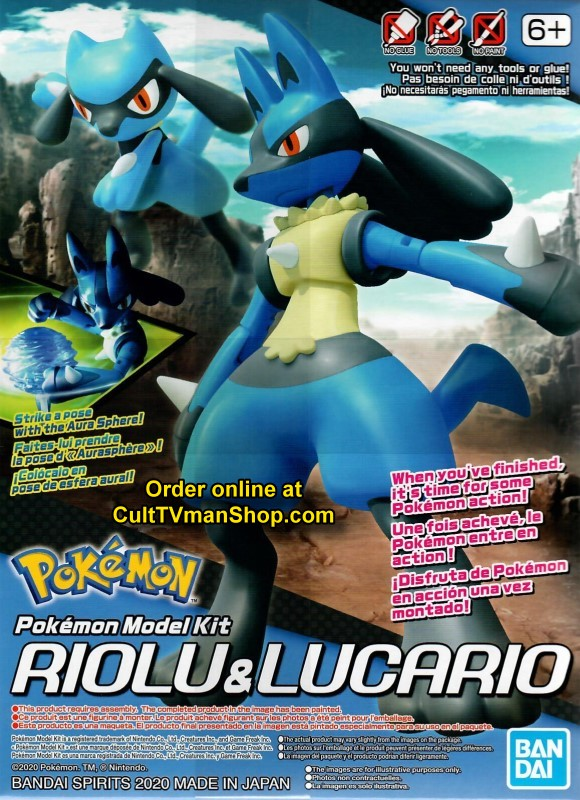 NEW: Riolu and Lucario - Pokemon model collection from Bandai