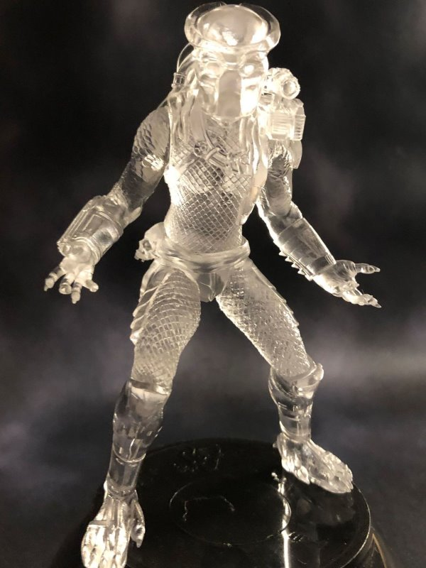 Clear Predator - MicroMania figure from Black Heart