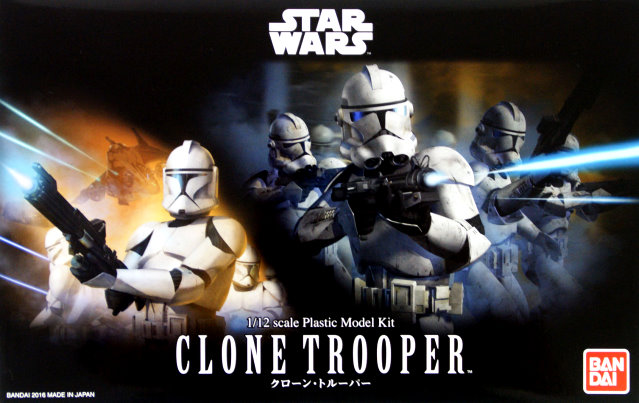 Clone Trooper 1:12 scale kit from Bandai