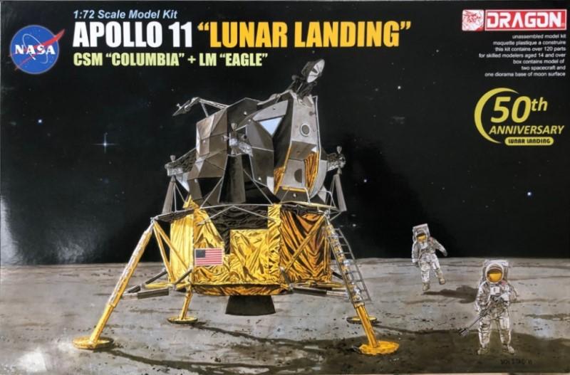 Airfix Models 1//72 Apollo Lunar Model Descent /& Ascent Stages Kit Plastic