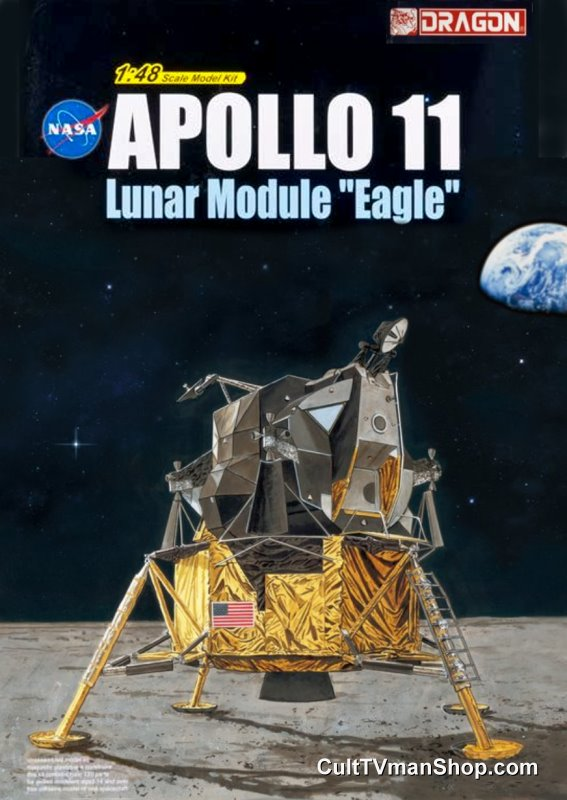 Apollo 11 Lunar Module Eagle 1:48 model kit from Dragon Models