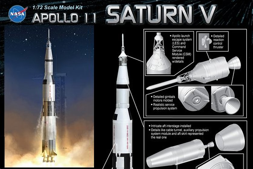 Dragon Models Saturn V image with kit details