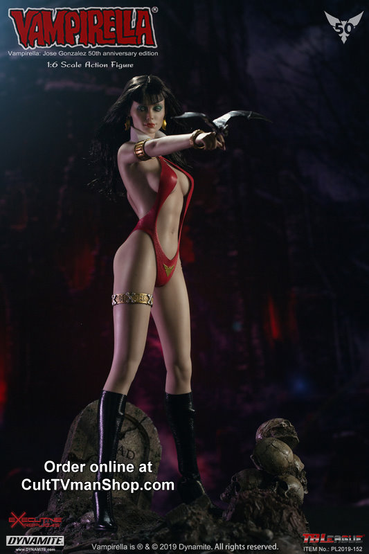 Vampirella - Jose Gonzalez 50th anniversary edition - Premium 1:6 action figure from Executive Replicas - PREORDER RESERVATION ($50  deposit)