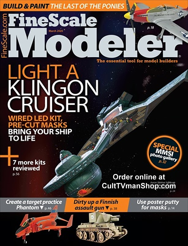 Fine Scale Modeler March 2020 - Light a Klingon Cruiser